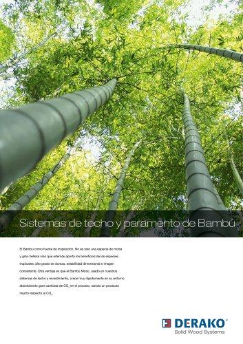 Folleto del producto bambú pared y techo