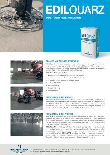 Edilquarz - Dust concrete hardener