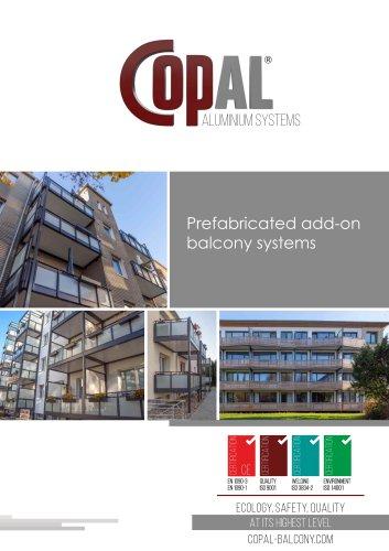 Prefabricated add-on balcony systems
