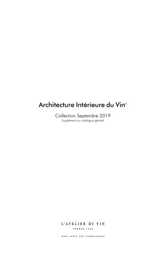 Interior Wine Architecture - September 2019 Collection