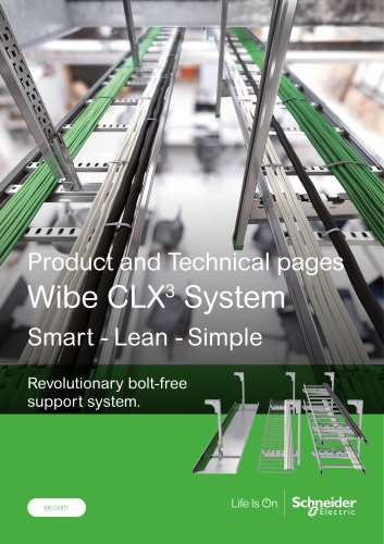 Product and Technical pages Wibe CLX3  System Smart - Lean - Simple