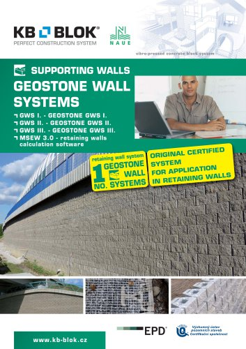 Original certified system for application in retaining walls GWS