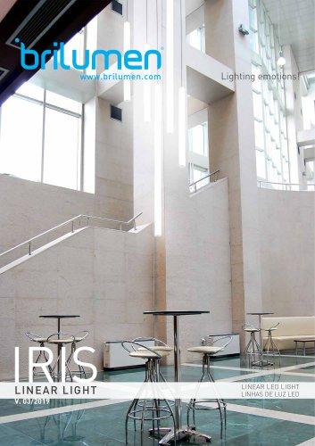 Tubular Linear LED Light IRIS - 360º