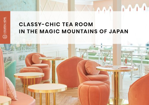 Classy Tea Room in the Magic Mountains of Japan