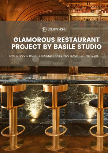 Glamorous Restaurant Project in San Diego by Basile Studio