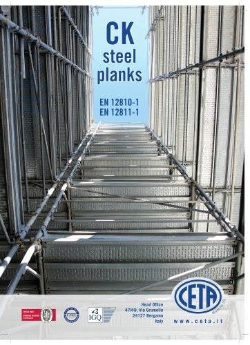 STEEL PLANKS - UNI EN 12810-1 EN 12811-1