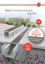 Fortis | Concrete channels  & gullies