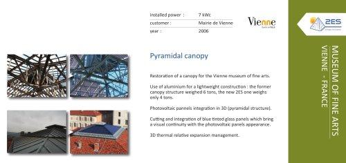 Pyramidal canopy