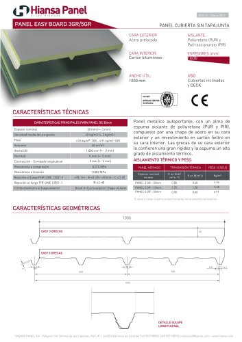 PANEL CUBIERTA EASY BOARD 3GR/5GR