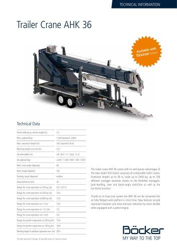 Trailer Crane AHK 36