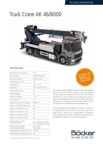 Truck Crane AK 46/6000