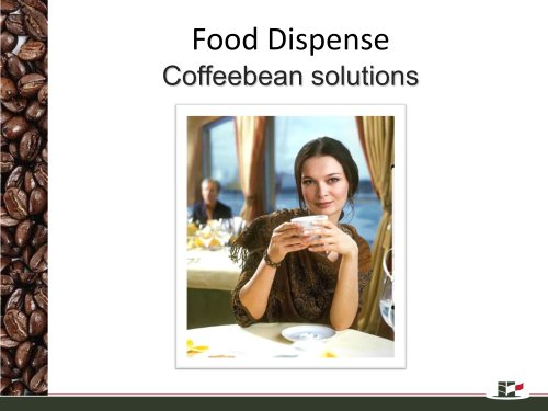 Coffee bean dispense solutions