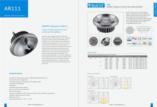 Glare-Free Indirect AR111 LED & Luminaires