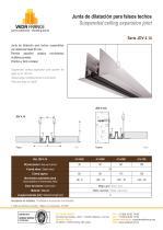 Junta de dilatación para falsos techos - JDV 4.14