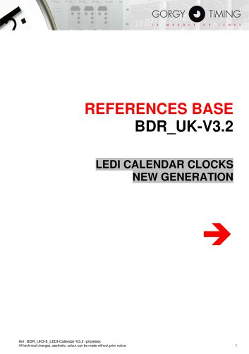 LEDI CALENDAR CLOCKS NEW GENERATION