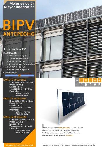 BIPV-Antepechos Solares Fotovoltaicos