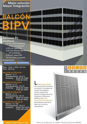 BIPV-Balcones Solares Fotovoltaicos