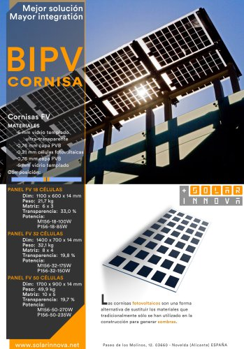 BIPV-Cornisas Solares Fotovoltaicas