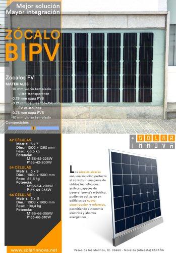 BIPV-Zócalos Solares Fotovoltaicos