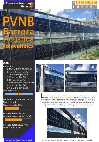 PVNB-Barrera Acústica Fotovoltaica-Holanda