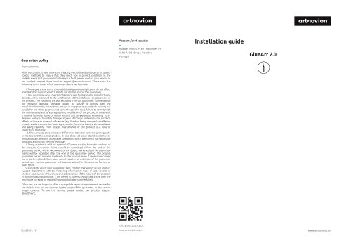 GlueArt 2.0 GlueArt Installation guide