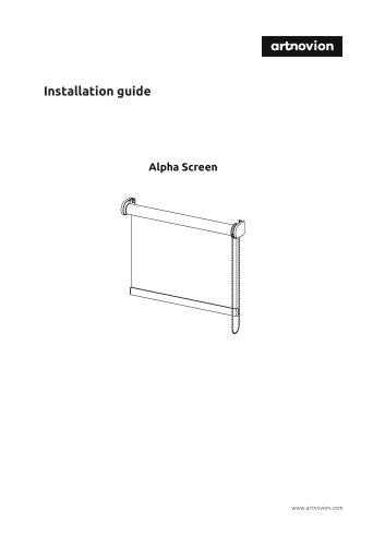Installation guide Alpha Screen