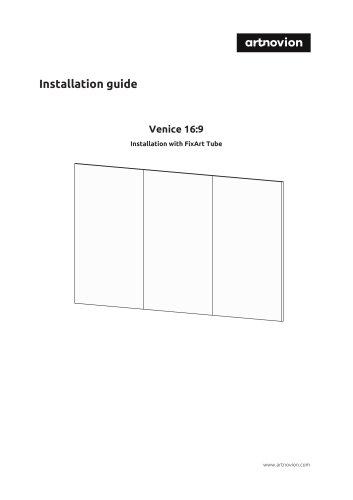 Installation guide Venice 16:9
