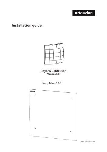 Jaya W - Diffuser Installation guide