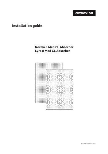 Lyra 8 Med CL Absorber Installation guide