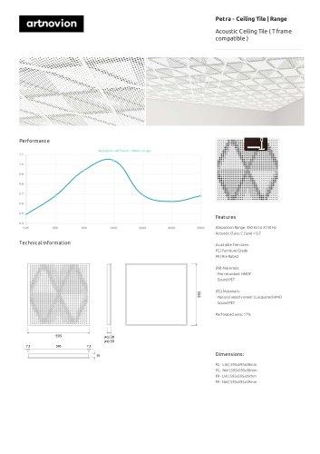 Petra - Ceiling Tile