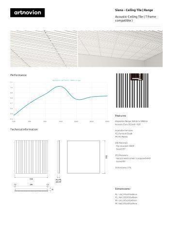 Siena - Ceiling Tile