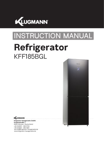 Refrigarator KFF185BGL
