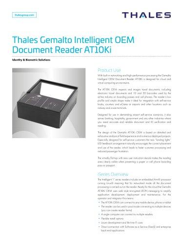 Thales Gemalto Intelligent OEM Document Reader AT10Ki