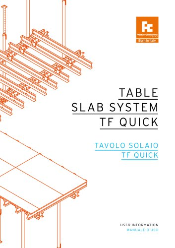 TABLE SLAB SYSTEM TF QUICK