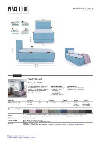 AR-100-10-10-10-008 - Medical Bed - Data Sheet