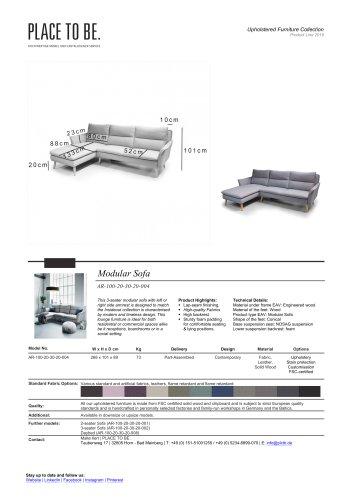 AR-100-20-30-20-004 - Lounge Chair - Data Sheet