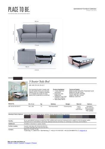 AR-100-20-30-20-011 - 3-Seater Sofa - Data Sheet