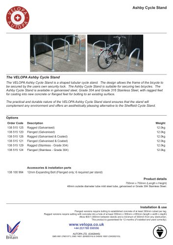 ASHBY CYCLE STAND