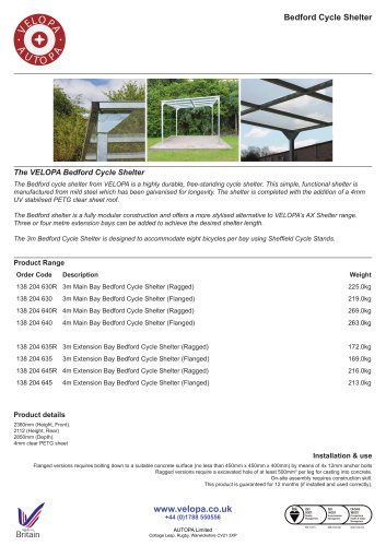 VELOPA Bedford Cycle Shelter