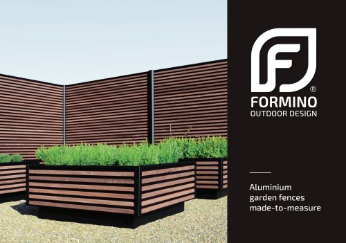 Formino - Aluminium garden fences made-to-measure