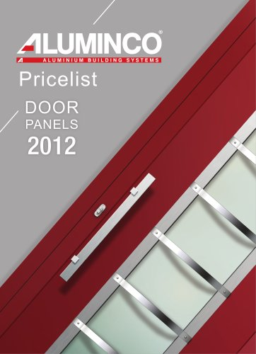 Pricelist DOOR PANELS 2012
