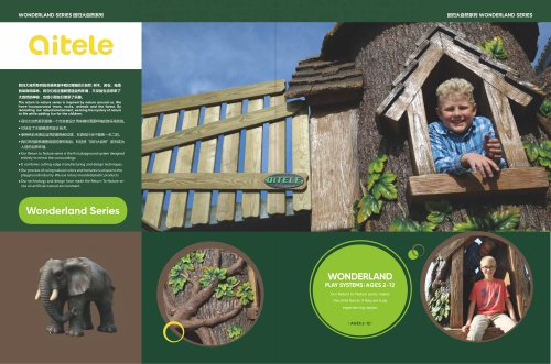 Qitele & Outdoor Playground & Play structure & Wonderland Series & playground & Constructed of durable and recyclable materials