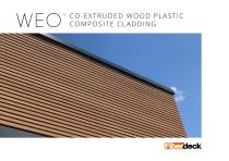 WEO CO-EXTRUDED WOOD PLASTIC COMPOSITE CLADDING