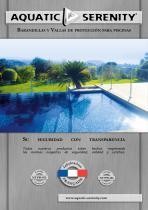 Aquatic Serenity Barreas de seguridad para piscinas