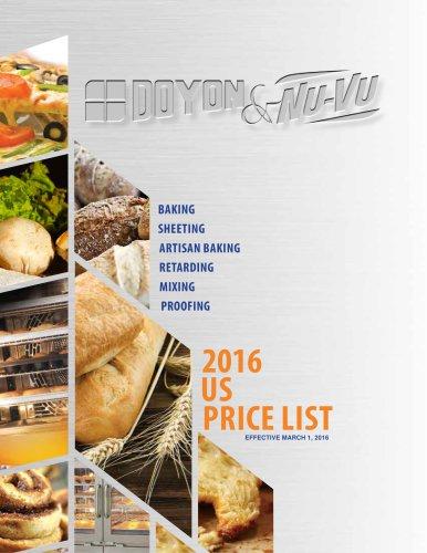 2016 US PRICE LIST