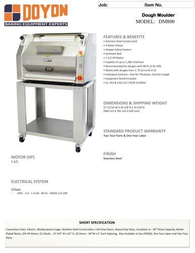 DM800 Dough Moulder