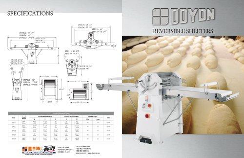 LSA520 Reversible Dough Sheeter