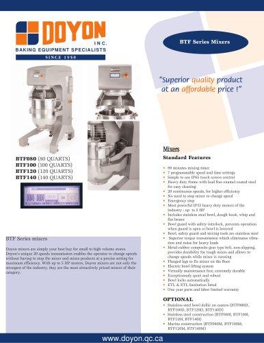 Planetary mixers BTF140