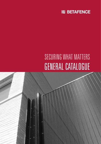 SECURING WHAT MATTERS GENERAL CATALOGUE