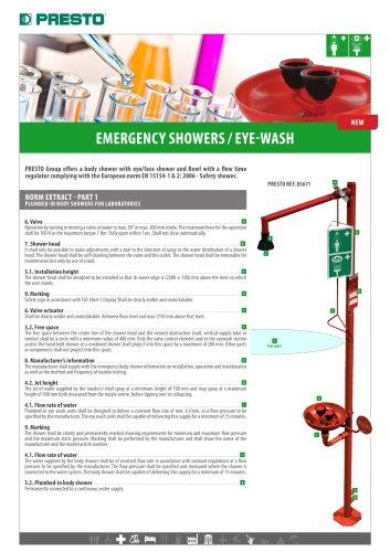Emergency showers - Eye-wash